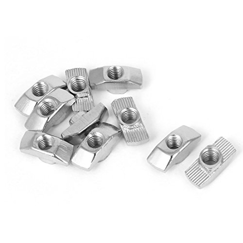 Uxcell a16050300ux0561 4040 Series Aluminum Profiles Extrusion T Slot Nuts M6 Drop in T-Nuts (Pack of 10)