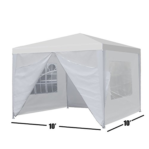 Outdoor Tent 10x10 Ft Beach Garden Canopy Party Wedding Tent Gazebo Pavilion Cater Events 4 Side Wall (Party City South Portland)