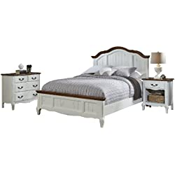 Home Styles 5518-5019 The French Countryside Queen Bed, Night Stand and Chest Set
