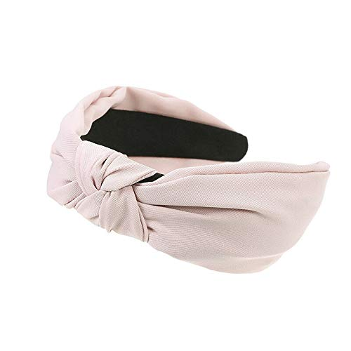 Plain Womens Fabric Knot Hair Band Headwear Hairband Headband Hair Accessories (Colors - Pink)