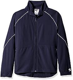 Soffe Big Boys\' Yth Warm up Jacket, Navy, LRG