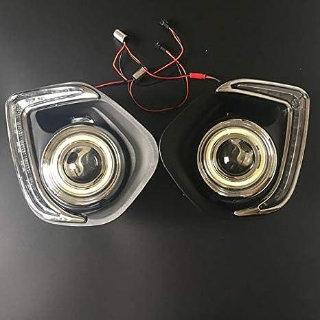 BEESCLOVER - Luces LED de circulación Diurna para Mitsubishi Outlander Sport ASX COB DRL Angel Eyes: Amazon.es: Coche y moto