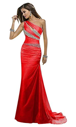 Rot Schulter Eine Beauty Damen Emily Kleid wzXRqWHAO