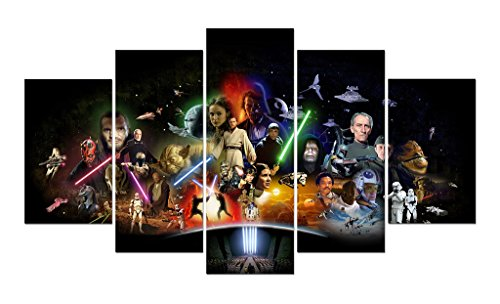 LMPTART(TM) 60x34 inches print star wars Movie poster picture for kids decor home decor wall art picture for living room deor print oil Painting on canvas art prints Framed Painting ready to hang wall - Kid Movie Poster