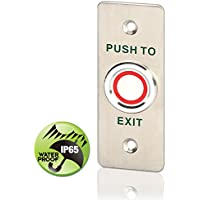 Weatherproof Home Exit Button Office Release Device Stainless Steel with LED