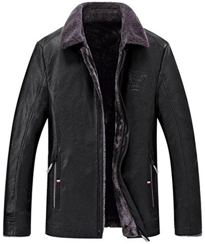 Fausse Veste 6xl Manteaux Gros Fourrure Chaud Epaissir En Qualite Haute Taille S Noir Cuir Ws668 Outdoor Casual Hiver De Homme Doublure HYqCwCz