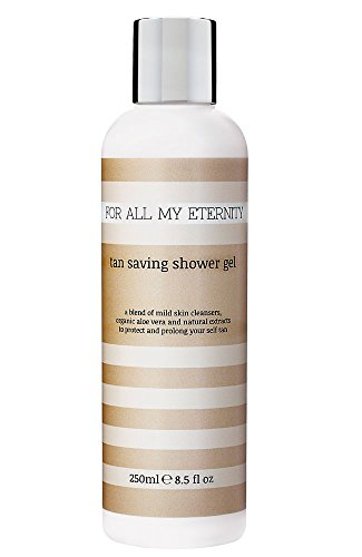 For All My Eternity Tan Saving Shower Gel 8.5 fl oz Self Tan Extending Body Wash Extends Your Sunless Tan Made with Provitamin B5 and Certified Organic Aloe Vera Sweet Orange and Grapefruit (Eternity Body Wash)