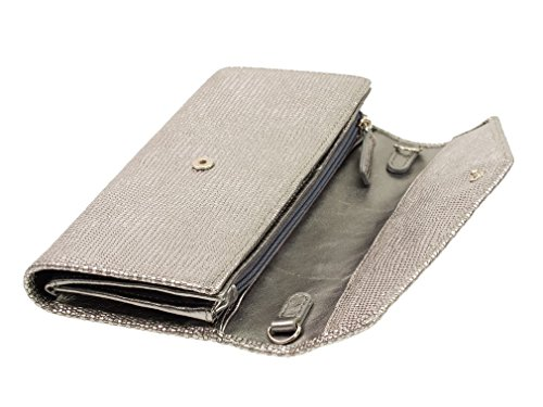 Braun Büffel Hollywood Bolso Clutch plata
