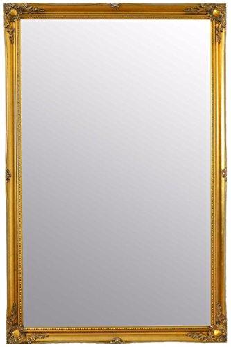 Large Gold Antique Ornate Design Big Wall Mirror New 5Ft6 X 3Ft6 167cm X 106cm (Portrait Dresser Mirror)