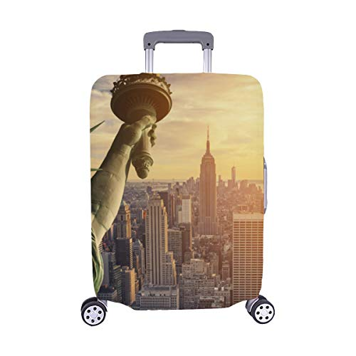 (New York City Landmark Statue Of Liberty Pattern Spandex Trolley Case Travel Luggage Protector Suitcase Cover 28.5 X 20.5)
