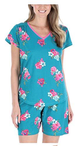Sleepyheads Women's Sleepwear Cotton Short Sleeve V-Neck Top and Shorts Pajama Set (SHCJ1750-4012-2X)