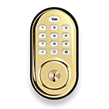 Yale Assure Lock Push Button Keypad with Z-Wave, Polished Brass-Works with Your Smart Home, Including SmartThings and Wink (YRD216ZW2605)