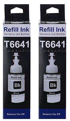 Skrill® T6641 Ink for Epson Printers  Black  Pack of 2