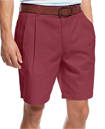 Club Room Core Double Pleat Twill Shorts Rosetta 34 ()