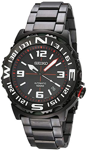 Seiko Superior Automatic Black Dial Black Steel Mens Watch SRP447