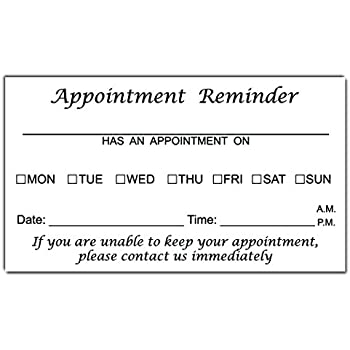 picture about Free Printable Appointment Reminder Cards referred to as : Appointment Reminder Playing cards - Place of work Card Measurement