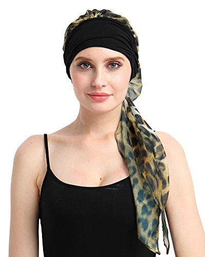 Wide Head - Bamboo Head Turban for Women with Cancer,Hair Loss Scarf Turbans Alopecia Beanie