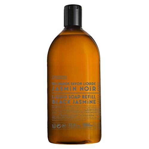 Compagnie de Provence Liquid Marseille Soap Made in France 16.9 fl oz Glass Bottle (Black Jasmine, Refill)