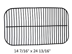 Zljiont Porcelain Steel Wire Backyard Grill BY13-101-001-11 Gas Grill Cooking Grid Replacement (14 7/16 x 24 13/16)