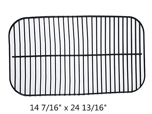 (Zljiont Porcelain Steel Wire Backyard Grill BY13-101-001-11 Gas Grill Cooking Grid Replacement (14 7/16 x 24 13/16))