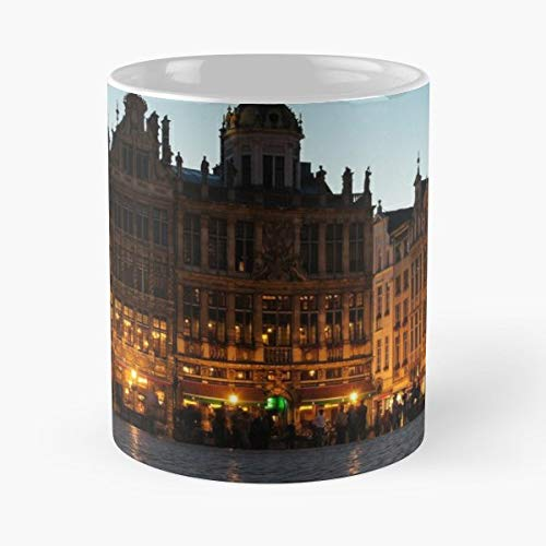 Ge The Best Gift For Holidays Coffee Mugs - 11 Oz Brussels Grand Places House