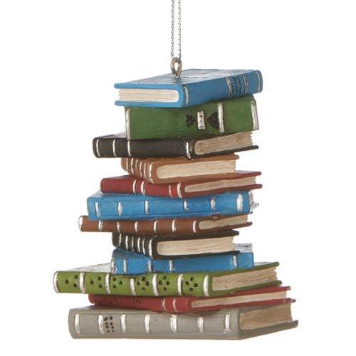 1 X School Book Stack Ornament