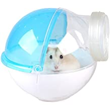 Hamster Restroom External Connection Design Small Animal Sand Bath House Cleaning Supplies