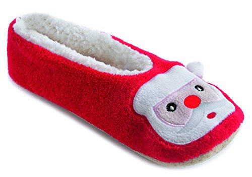 Hari Deals - Zapatillas de estar por casa para mujer Red