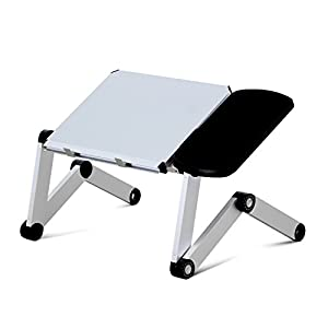 Perfect Furinno D1 Silver Ergonomics Adjustable Multi Functional Laptop Desk Bed  Tray, Silver
