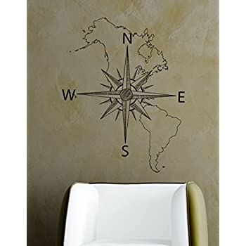 Amazoncom Stickerbrand Nautical Vinyl Wall Art Antique Ship - How do you put up vinyl wall decals