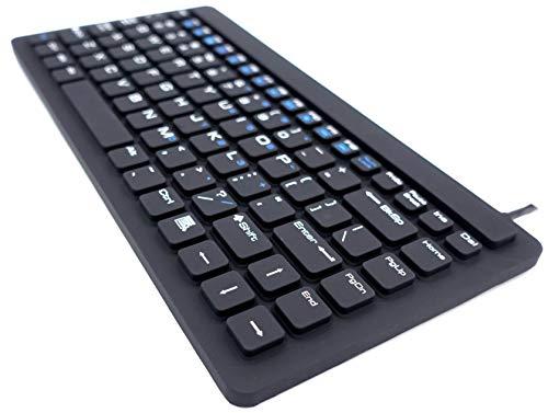 SolidTek KB-IKB-88 USB Silicone Mini Waterproof Keyboard Black KBIKB88