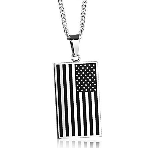 Gold American Flag Charm - 3