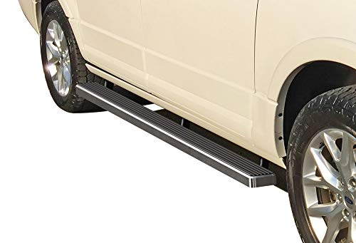 APS iBoard Running Boards 4 inches Custom Fit 2003-2017 Ford Expedition Sport Utility 4-Door (Exclude EL Model) (Not Fit Funkmaster Flex Edition) (Nerf Bars Side Steps Side Bars)