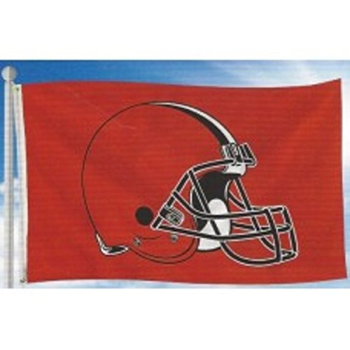 Rico NFL Cleveland Browns Banner Flag 3-Foot by 5-Foot ()