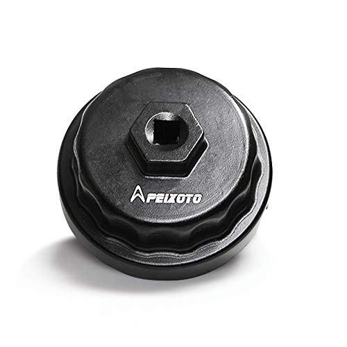 Apeixoto Oil Filter Wrench Cap Removal Tool Fits 64mm Cartridge Housing for Camry Rav4 Highlander Sienna Tundra with 2.5L-5.7L Engine