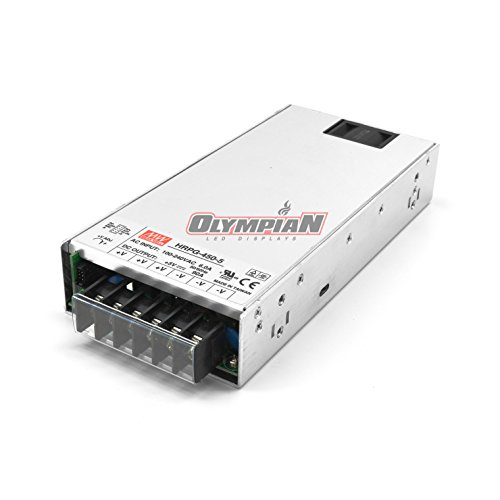 Mean Well HRPG-450-5 Switching Power Supply 450W 5V 90A /W PFC by MEAN WELL (Image #1)