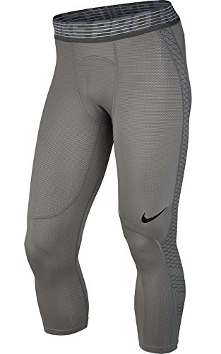 Nike Pro HyperCool Men's 3/4 Training Tights (XL, Dust/Tumbled Grey/Black)