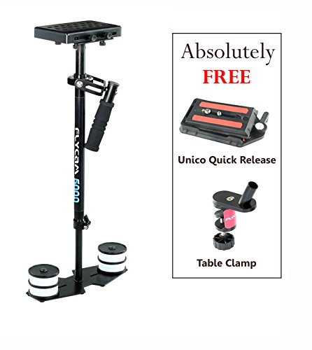 Flyfilms 5000 Stabilizer Steadycam for DSLR DV HDV Cameras upto 5kg FREE Unico and Table Clamp