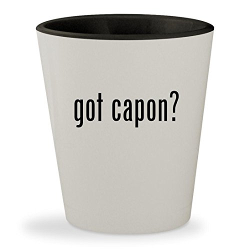 Capone Sweets Al (got capon? - White Outer & Black Inner Ceramic 1.5oz Shot Glass)