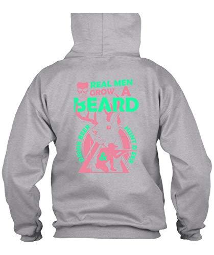 Real Men Grow A Beard Drink Beer Hoodies, I Love Hunter T Shirt-Hoodie (S, Sport -
