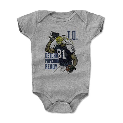 500 Levels Terrell Owens Baby Onesie 12 18 Months Heather Gray   Vintage Dallas Football Baby Clothes   Terrell Owens Popcorn B