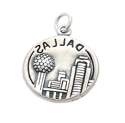 Sterling Silver Dallas The Texas Star Charm/Pendant Vintage Crafting Pendant Jewelry Making Supplies - DIY for Necklace Bracelet Accessories by CharmingSS -