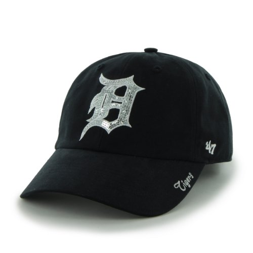 MLB Detroit Tigers Women's Sparkle Team Color Cap, One-Size, Navy