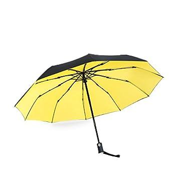 Sorliva Paraguas automático de Doble Capa, 10 Varillas, Paraguas de Lluvia soleada, de
