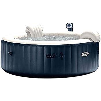 Amazon.com : Intex 77in PureSpa Portable Bubble Massage Spa ...