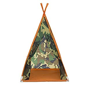 Delta Children Teepee Play Tent and Matching Sleeping Bag Set for Kids, Green Camo