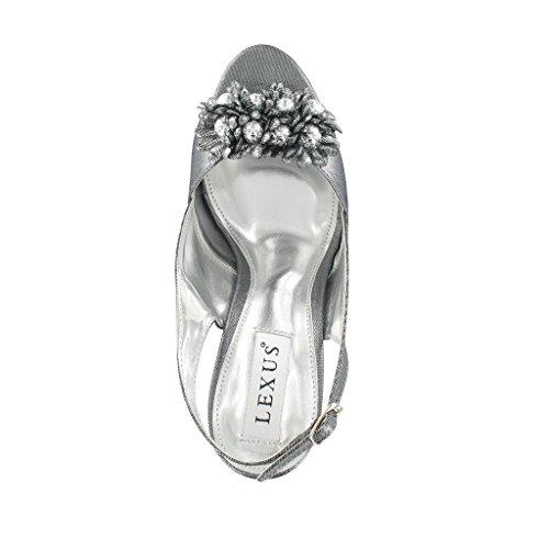 LEXUS bride femme a Gris Grey Metalic WRxR68qwAr