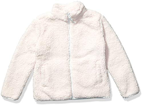 Amazon Essentials Girl's Polar Fleece Lined Sherpa Full-Zip Jacket, Light Pink, Small