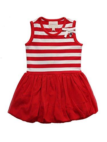 dler Girls' Tutu Dress / Beautiful Holiday Dress / Pretty Birthday Dress / Fancy Christmas Dress / Summer Sleeveless Striped Flare Dress Red 3-4 Years (Fancy Christmas Dresses)