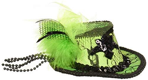 Forum Novelties Women's Mini Lace Fedora Hair Clip-Green Party Supplies, Standard]()